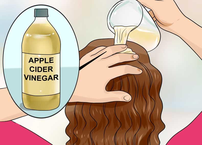 درمان خارش سر با سرکه سیب