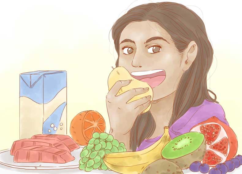 موادغذایی مناسب برای چروک پیشانی