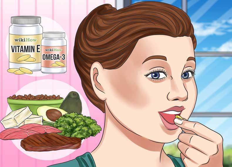 موادمغذی برای چروک دور چشم