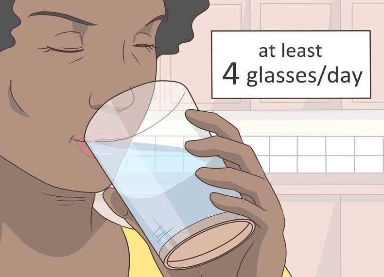 نوشیدن آب برای جوانسازی پوست