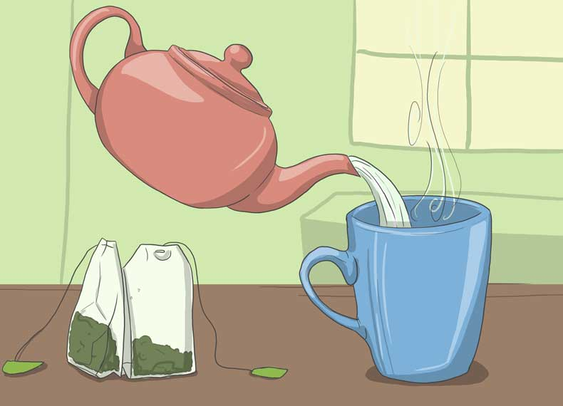 نوشیدن چای و تعریق