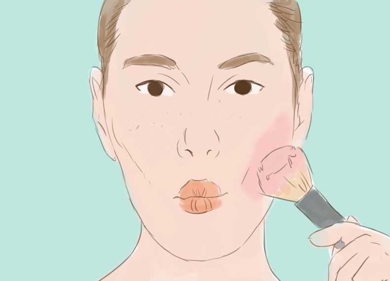 آرایش کردن با کک و مک