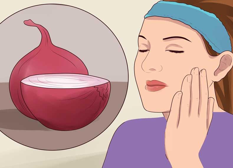 درمان لک صورت با پیاز