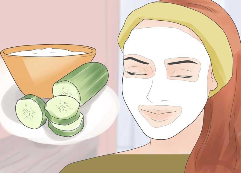 درمان آفتاب سوختگی با خیار