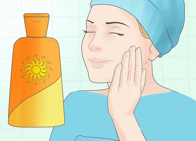 کرم ضد آفتاب در هنگام آفتاب سوختگی