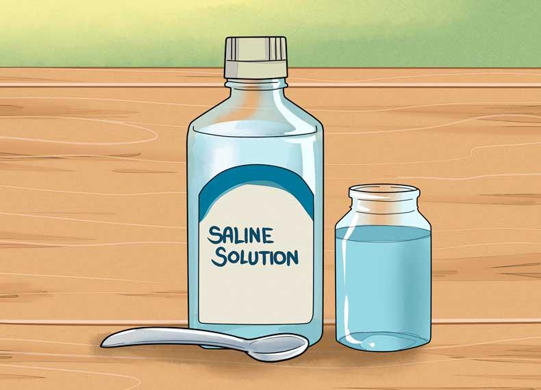 درمان کورک با نمک
