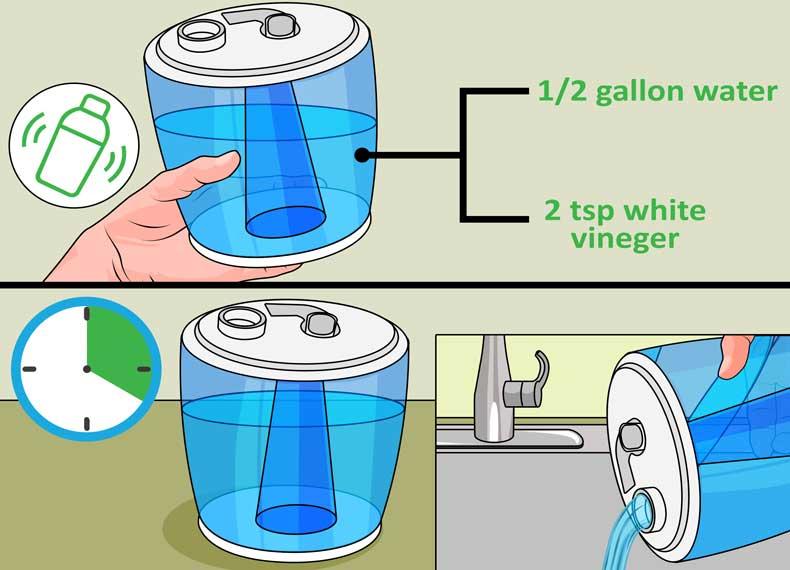 تمیز کردن مخزن آب بخور