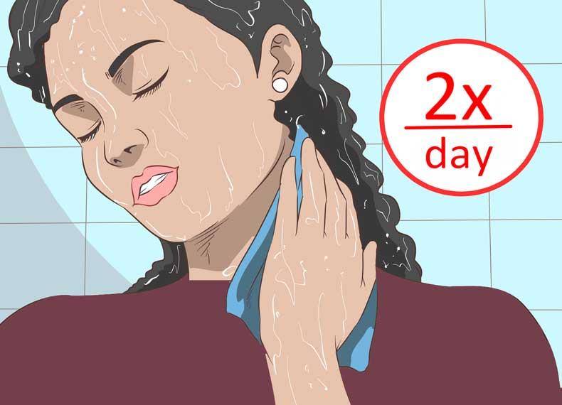 درمان خانگی جوش گردن