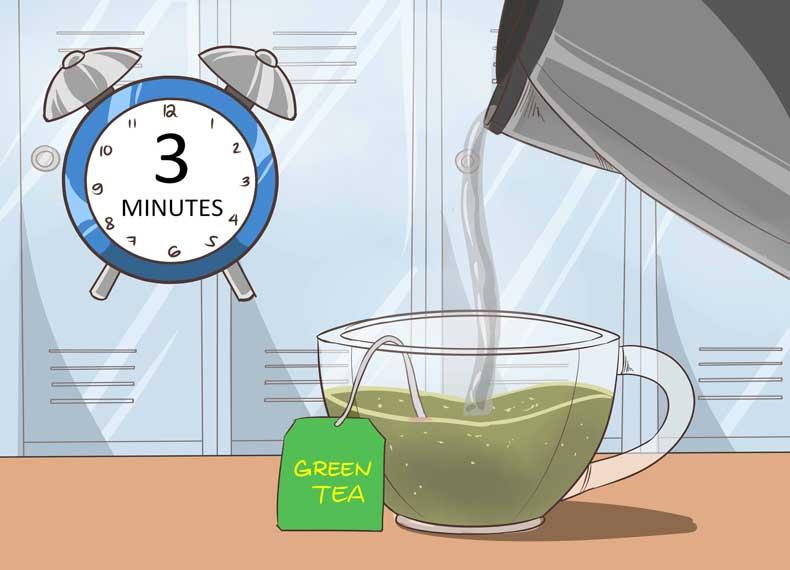 چای سبز و جوش گردن