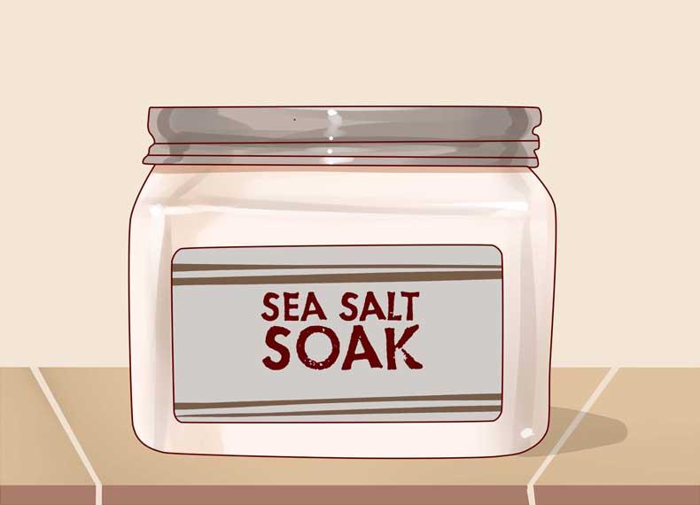 لایه برداری جوش زیرپوستی با نمک