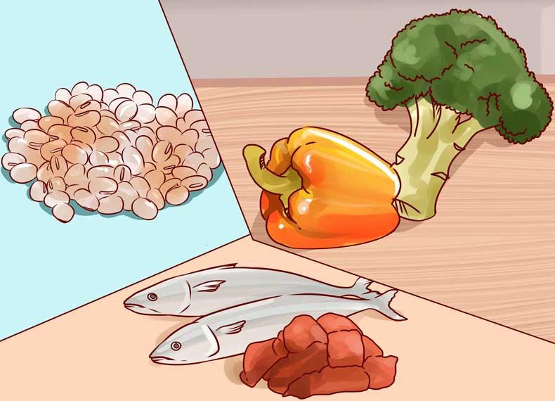 رژیم غذایی ضد جوش زیرپوستی