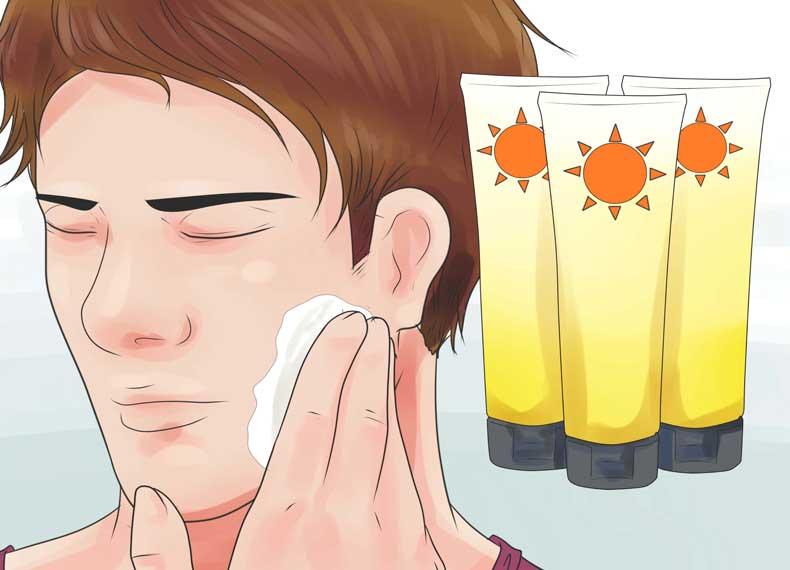 کرم ضد آفتاب برای درمان جوش صورت
