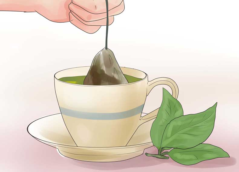 درمان جوش با چای سبز