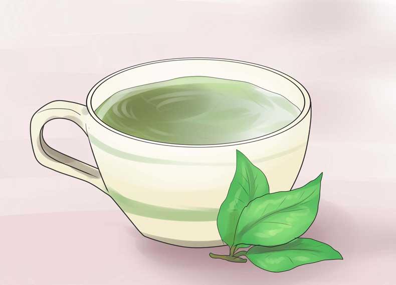 چای سبز ضد جوش