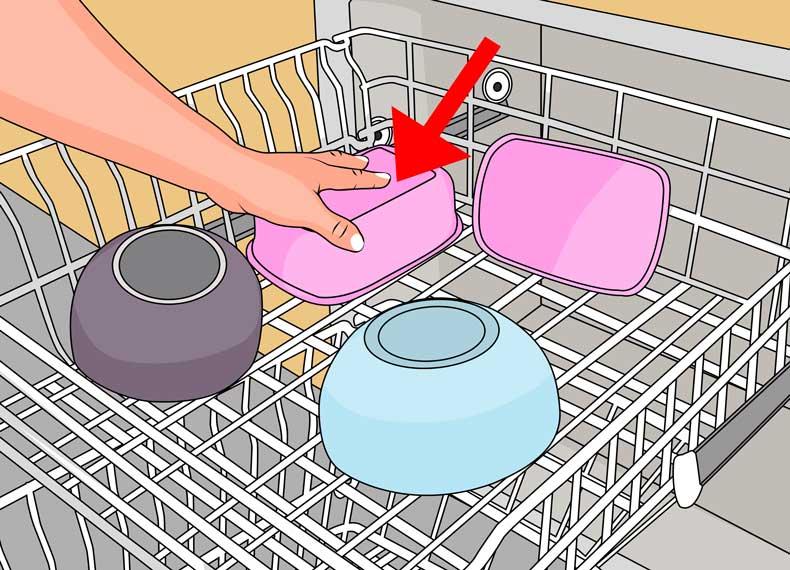 چیدن ظروف داخل ماشین ظرفشویی