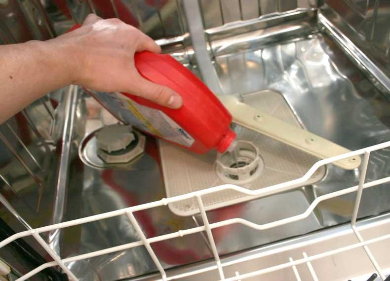 رسوب زدایی ماشین ظرفشویی