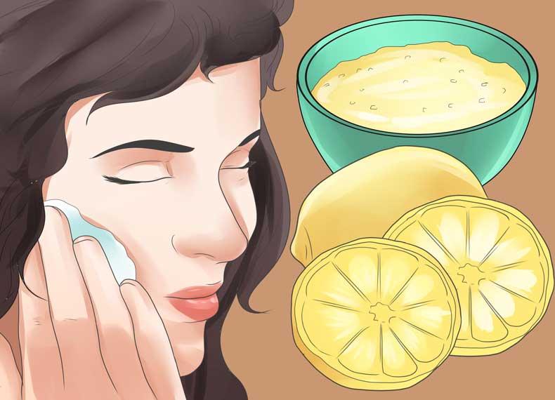 درمان جوش سرسیاه با آبلیمو