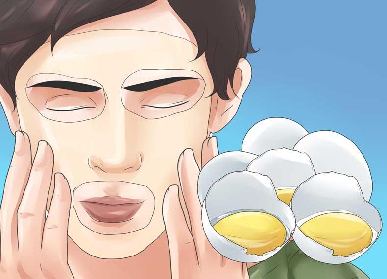 ماسک تخم مرغ برای درمان جوش سرسیاه