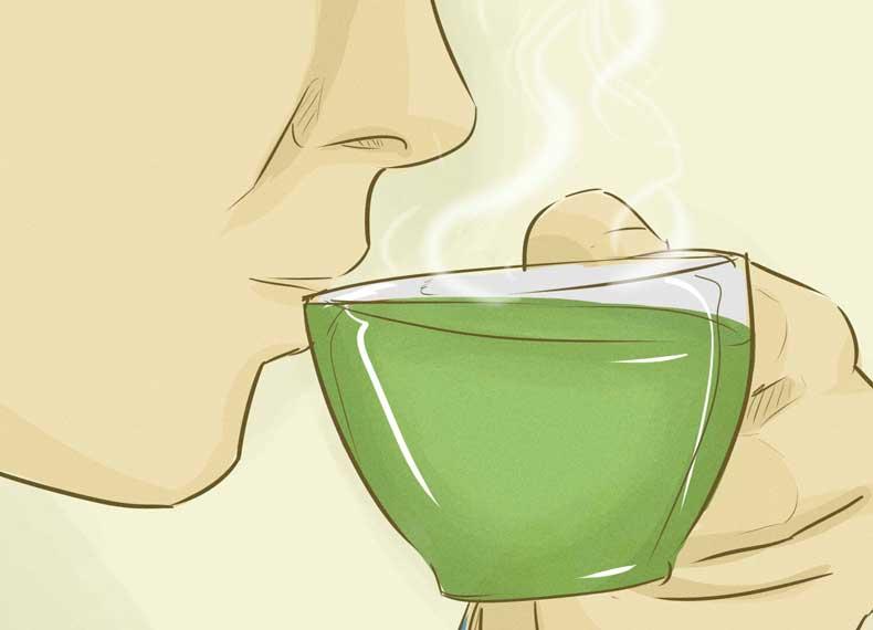 آب کردن شکم با چای سبز