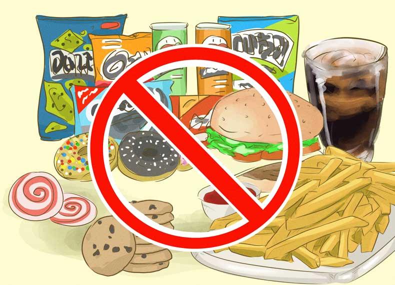 موادغذایی ممنوعه برای لاغری