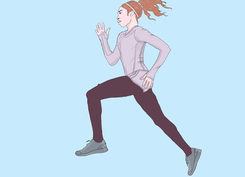 دویدن شدید برای آب کردن شکم