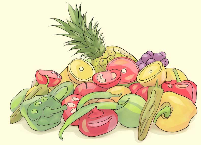 میوه و سبزی برای چربی سوزی