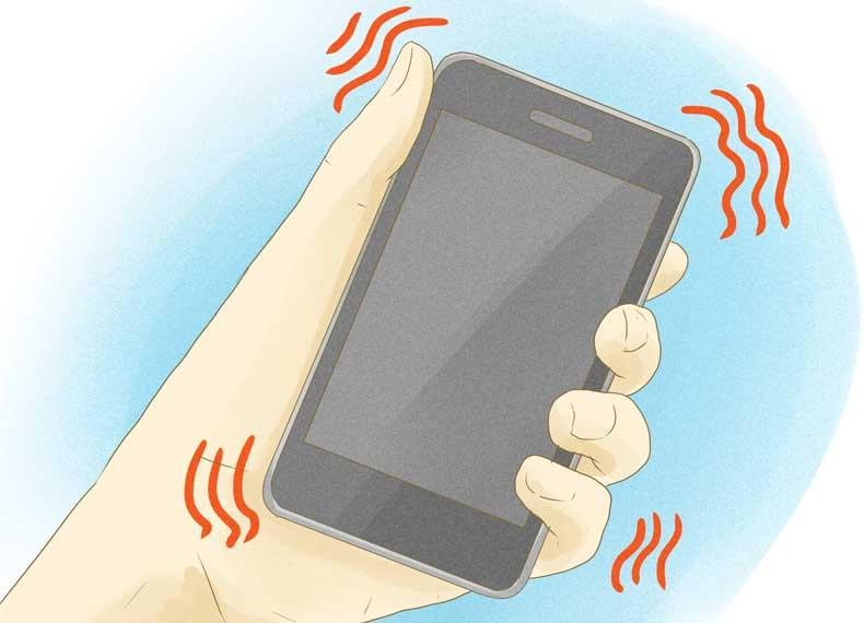 مصرف باتری زیاد توسط ویبره گوشی