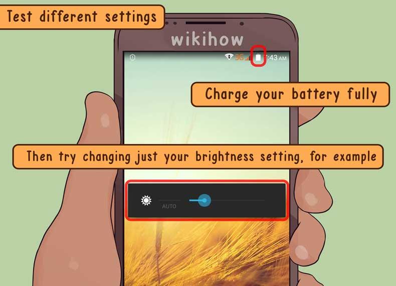 مصرف زیاد باتری توسط صفحه گوشی اندروییدی