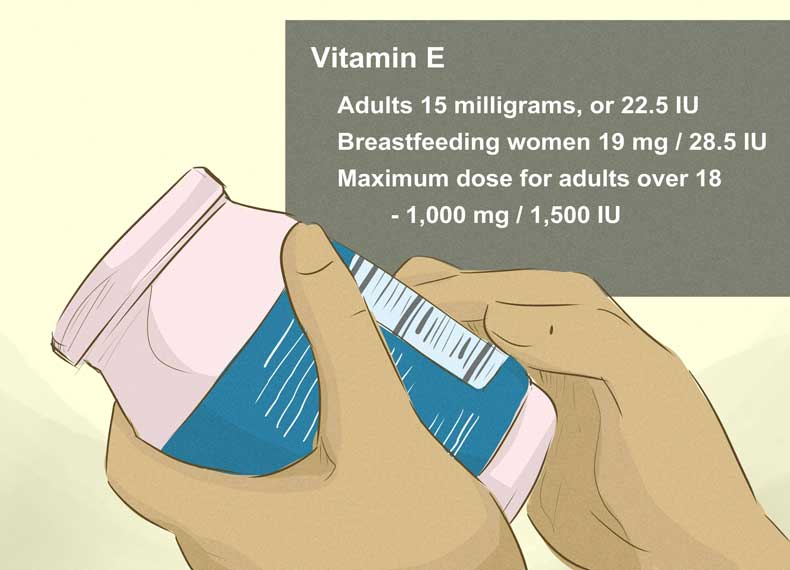مقدار ویتامین E