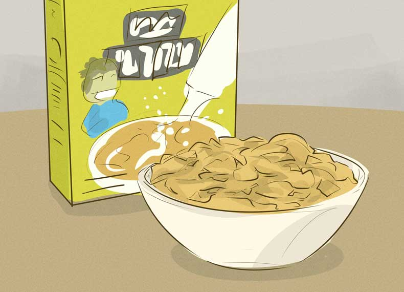 غلات صبحانه حاوی ویتامین E