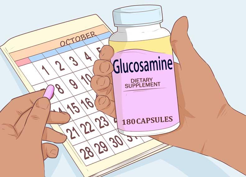 زمان مصرف قرص گلوکزامین