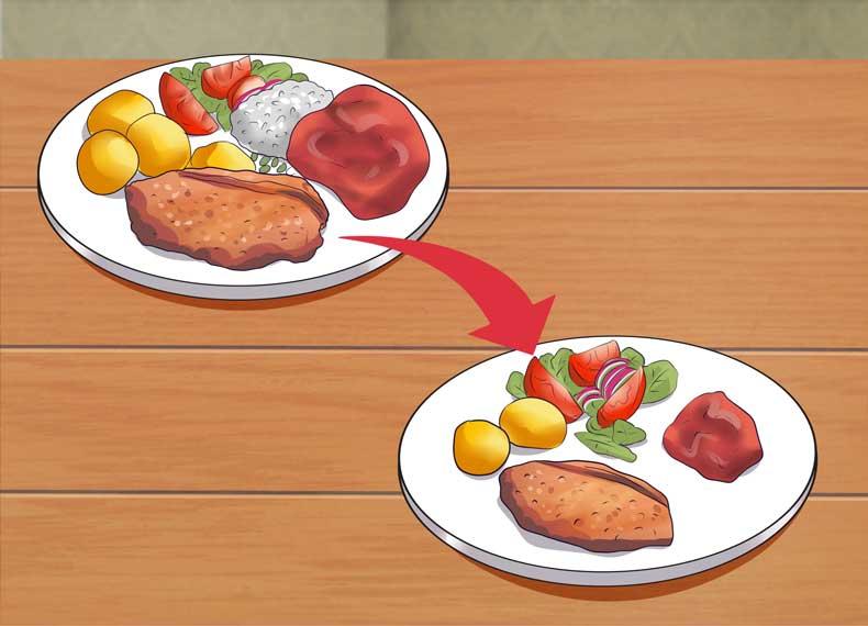 کاهش حجم غذا