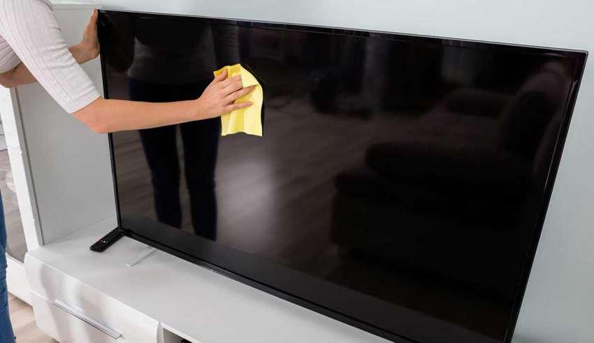 تمیز کردن تلویزیون