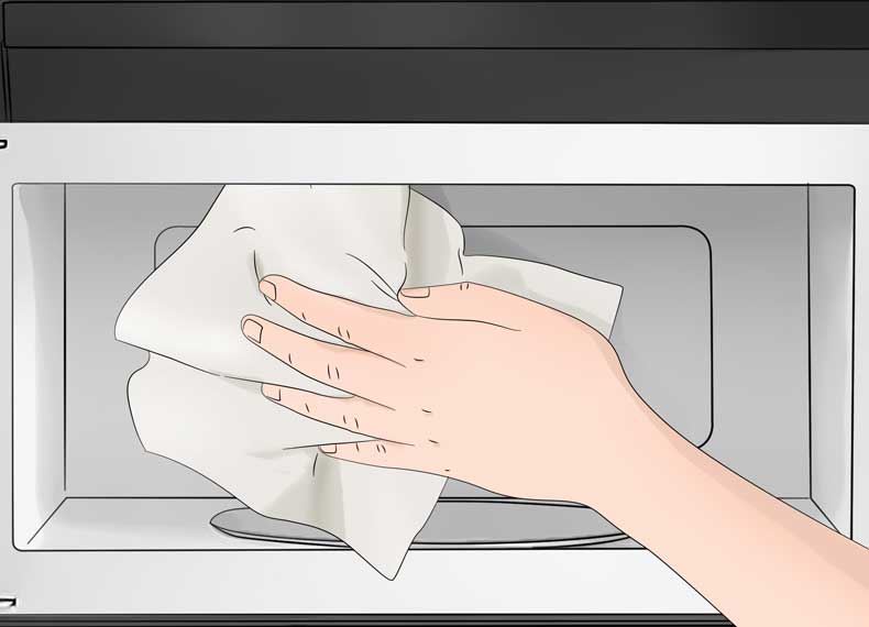 تمیز کردن اصولی مایکروفر