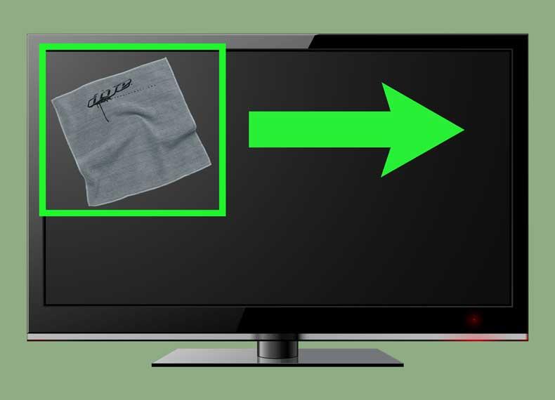 تمیز کردن درست تلویزیون