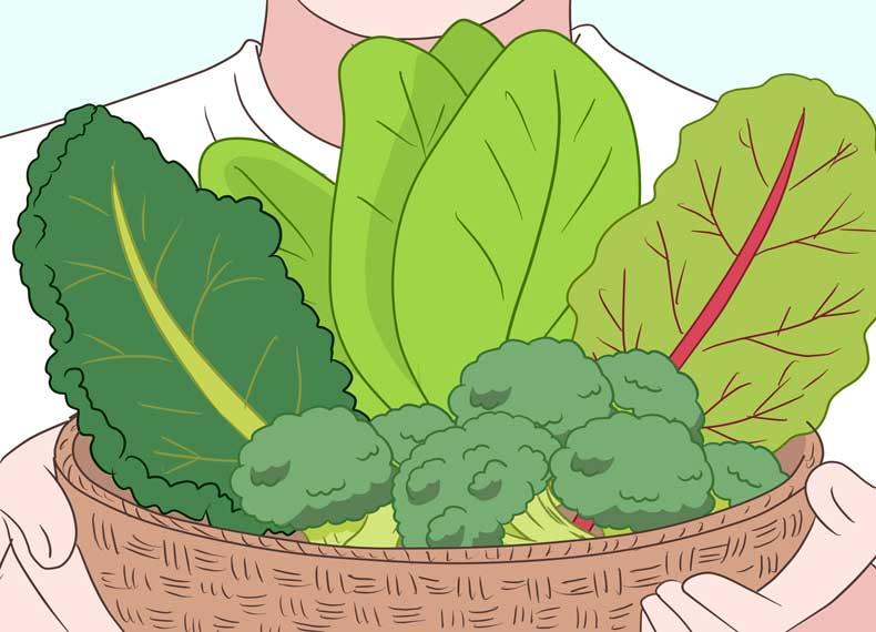 پاکسازی بدن با سبزی