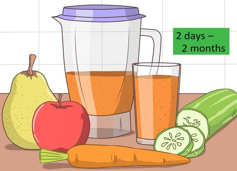 پاکسازی بدن با آب میوه