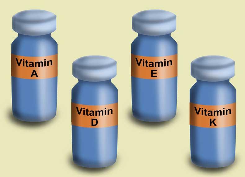 اسامی ویتامین های محلول در چربی