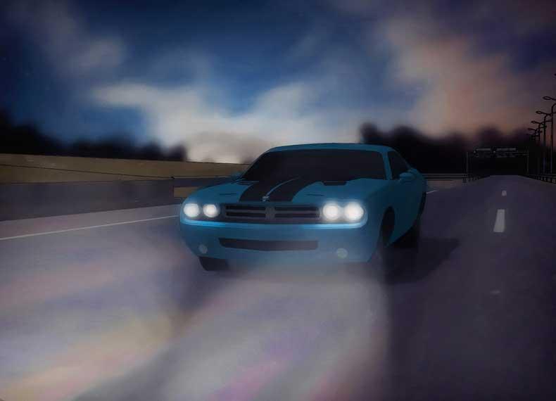اصول رانندگی در شب