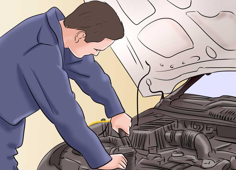 سرویس کردن ماشین