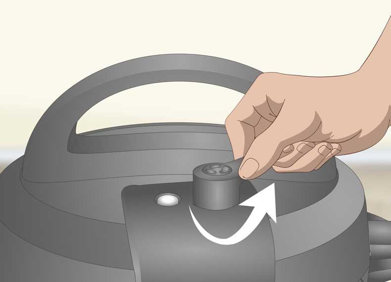 خالی کردن فشار زودپز برقی