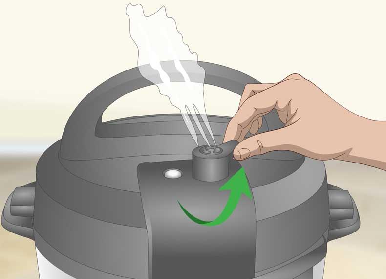 خالی کردن بخار زودپز برقی