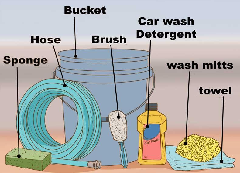 شستن ماشین در خانه