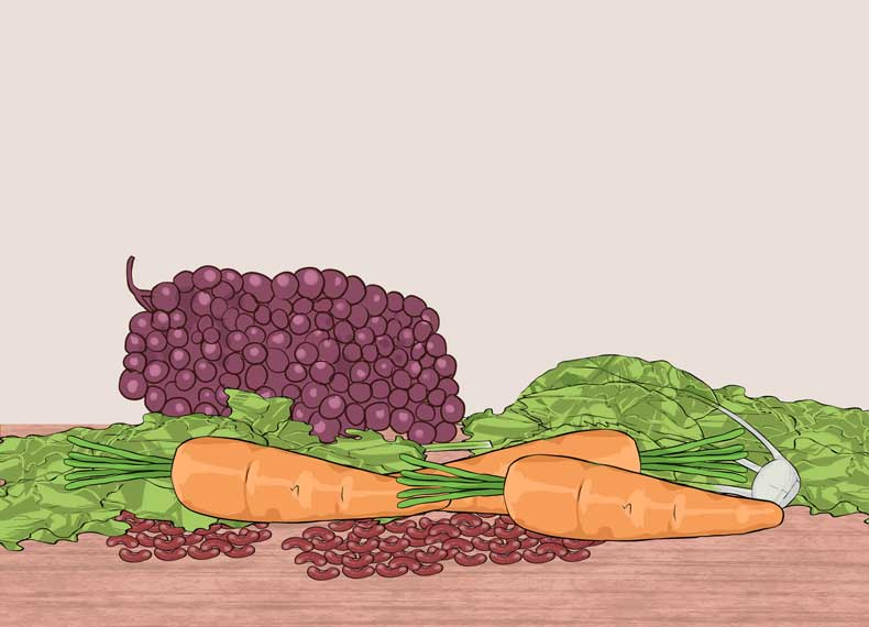 میوه و سبزی دارای گلوتن