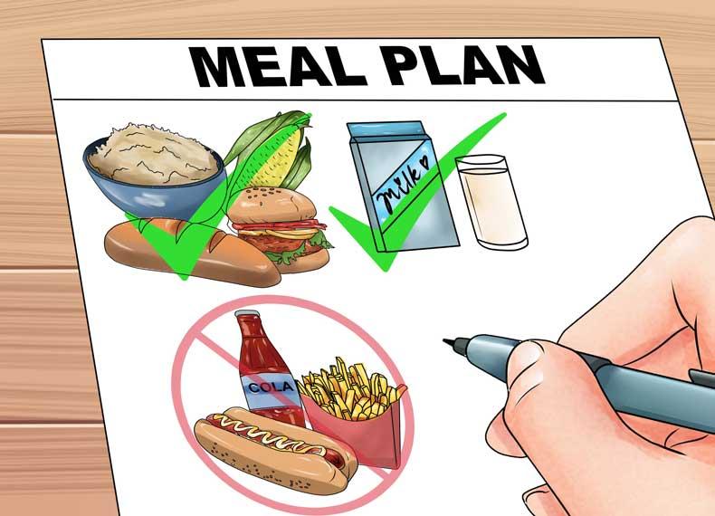 برنامه غذایی مناسب
