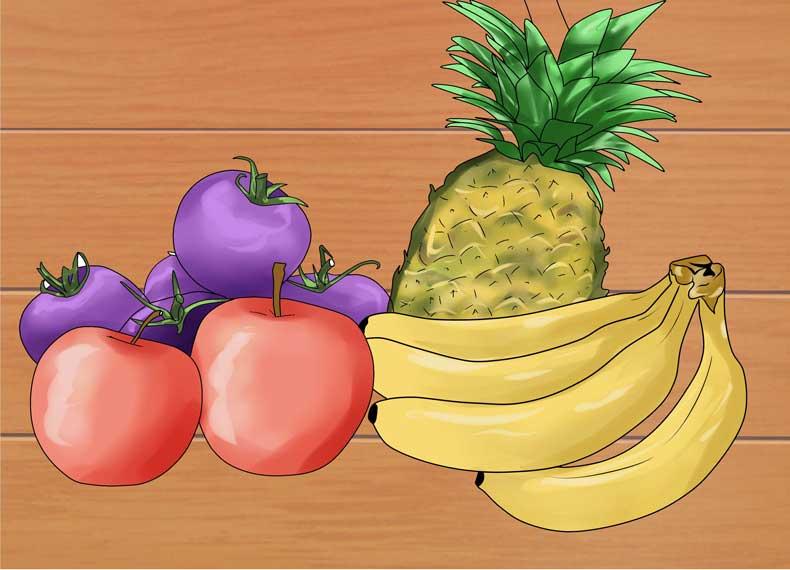 میوه و سبزیجات فرآوری نشده
