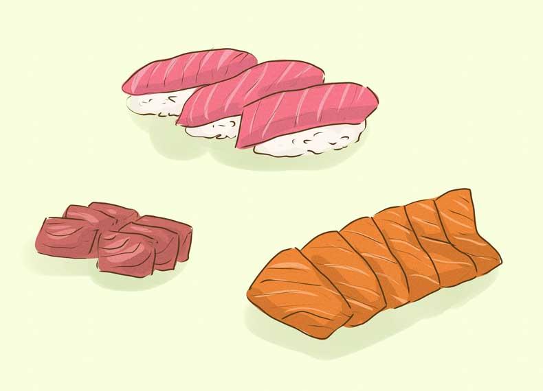 ماهی خام