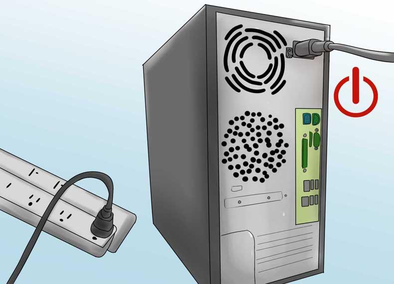 برق گرفتگی بدنه کامپیوتر