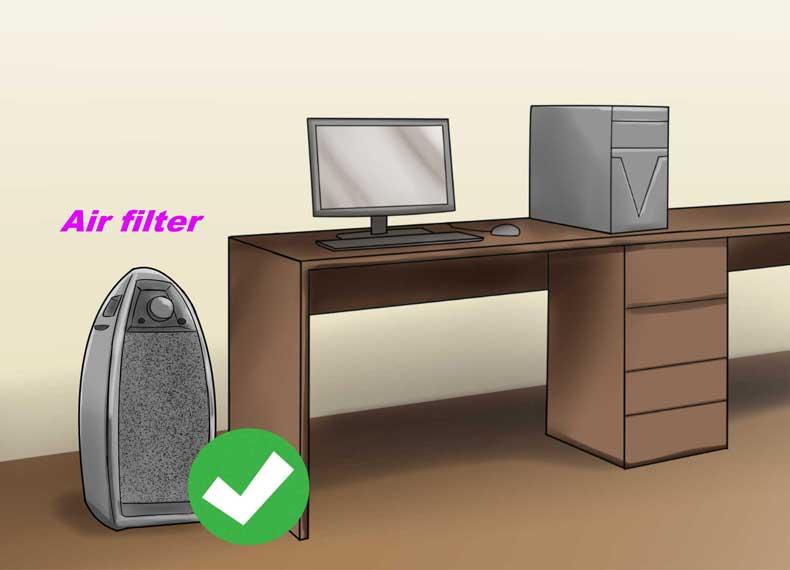 کاهش خاک کامپیوتر