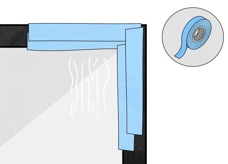از بین بردن چسب روی شیشه
